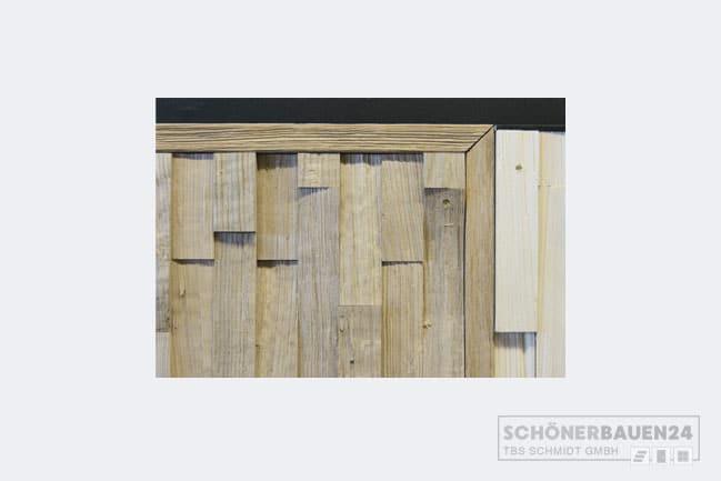 Abschlusskante Holz Wand
